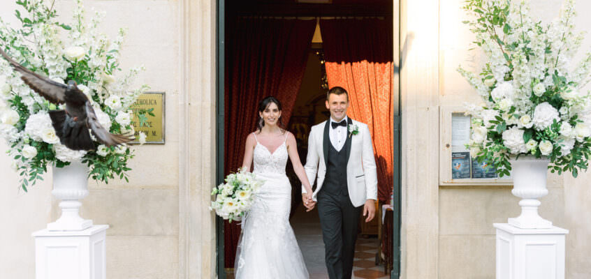 BLACK-TIE IRISH CATHOLIC WEDDING AT THE SAINT CHRISTOPHER CATHEDRAL – DUOMO – CORFU OLD TOWN